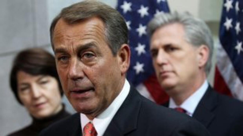El liderazgo republicano de la Cámnara de Representantes. De izquierda a...