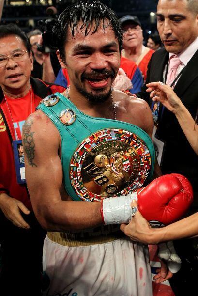 El 'Pacman' se ciñó el cinturón de campeón s...
