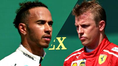 Ni el saludo: la molestia de Hamilton con Räikkönen al finalizar el GP de Gran Bretaña