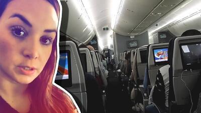 Esta actriz documentó en video la angustia que vivió cuando le dijeron que en su avión había una bomba