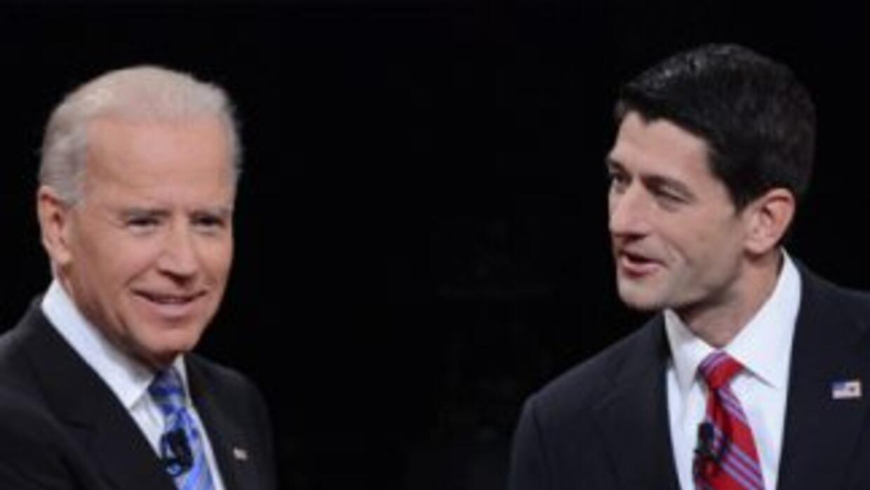 El vicepresidente de EEUU Joe Biden y el candidato republicano Paul Ryan...