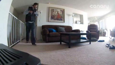 El sospechoso entró a una vivienda ilegalmente