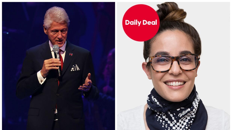 Además de la bandana diseñada por Thakoon, Bill Clinton usó un pin con l...