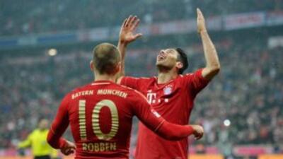 Pizarro tuvo una jornada perfecta para el Bayern.