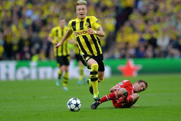 Reus también fue un peligro con su velocidad.