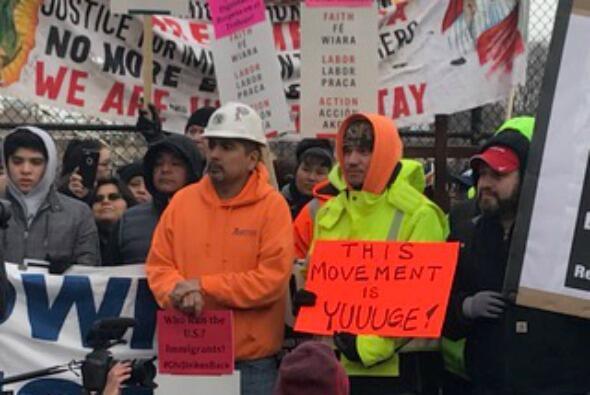 """Imágenes de la protesta de un """"Día sin Inmigrantes"""" Chicago"""