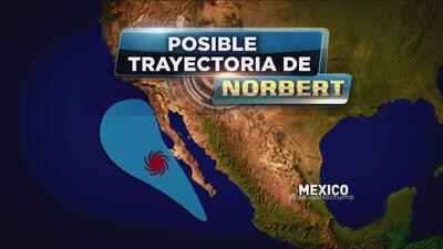 Norbert se convirtió en Huracán categoría uno
