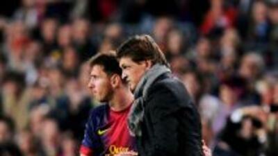 Messi y Vilanova cuando el técnico estaba al frente del Barcelona.