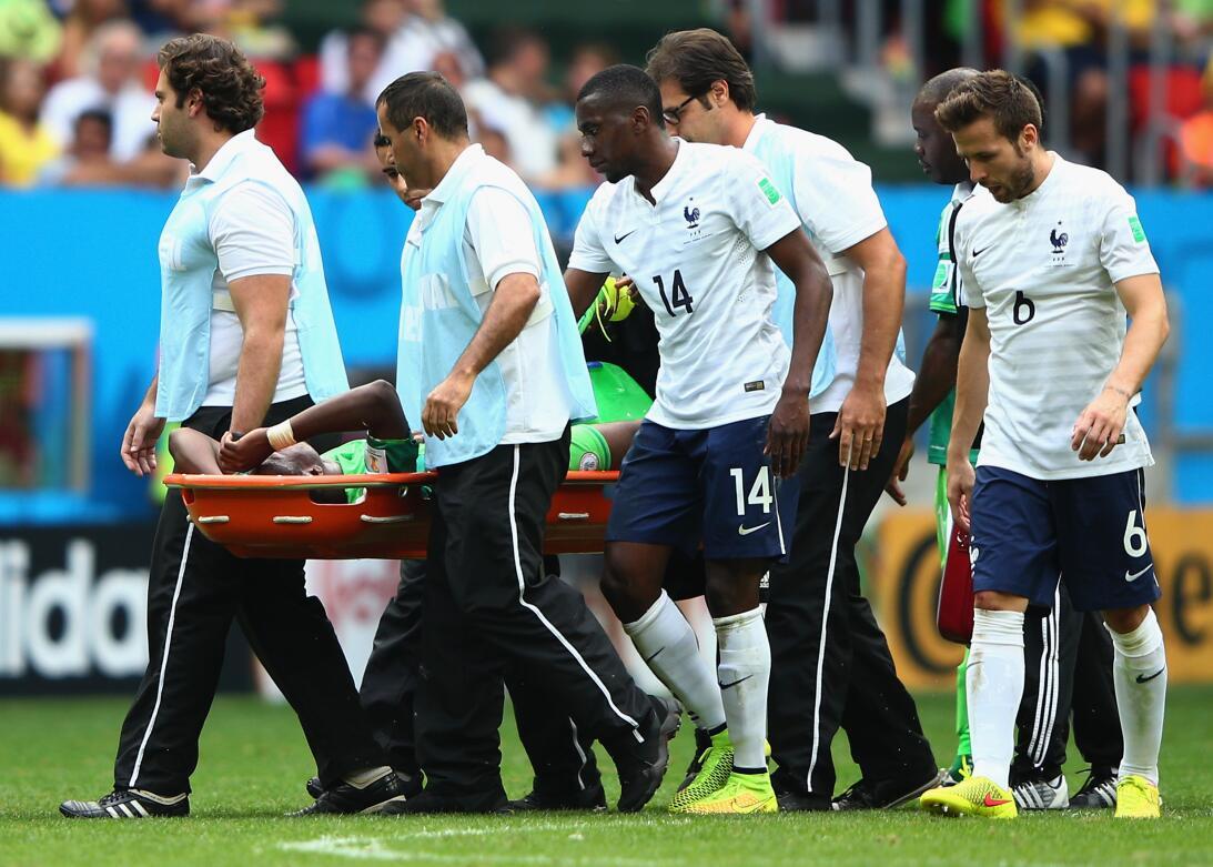 Historias de Mundiales: el nigeriano fracturado por un compañero que des...