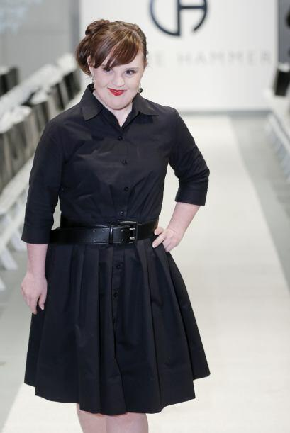 Otra de las modelos que causó sensación en el Fashion Week de Nueva York...
