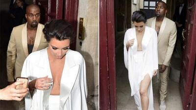 Kim y Kanye en Versalles