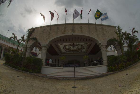 El hotel donde año con año se lleva a cabo el Draft del fútbol mexicano,...