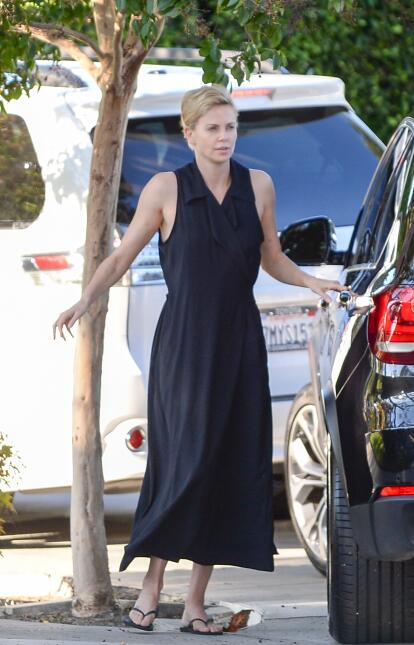 Charlize Theron y bebé August