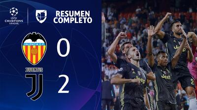 Valencia 0-2 Juventus - GOLES Y RESUMEN - Grupo H UEFA Champions League
