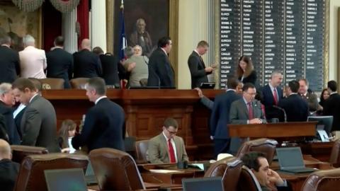 Aspecto de la última sección de la legislatura de Texas a...