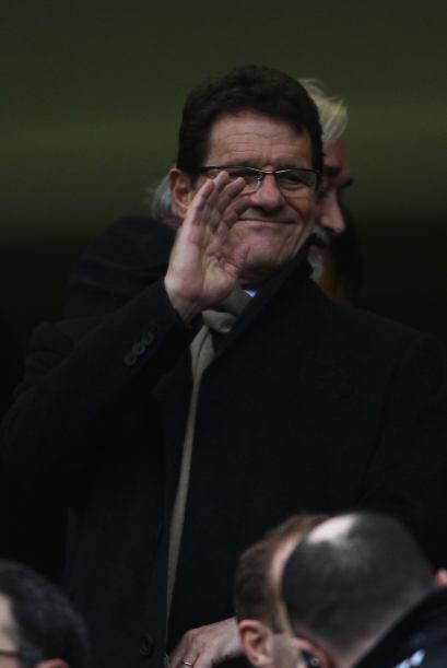 Incluso Fabio Capello, el técnico de Inglaterra, no se perdió el encuentro.