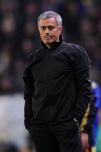 José Mourinho no estaba tranquilo, además de que gran parte del juego es...