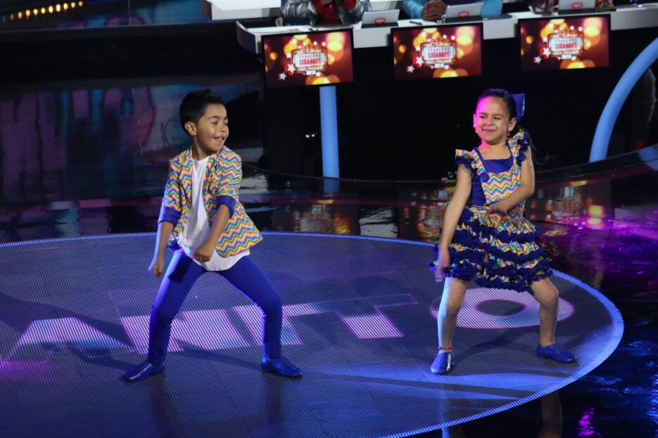 Baile de Luisangeli y Diego en el tercer show de Pequeños Gigantes