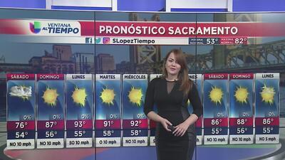 Temperaturas variables para este fin de semana en Sacramento