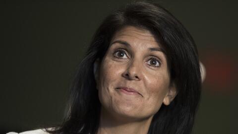 Haley, una republicana moderada que se vuelto en dura portavoz de la pol...