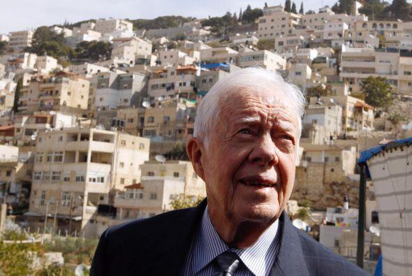 El ex presidente Jimmy Carter ocupó el sexto lugar entre las preferencia...