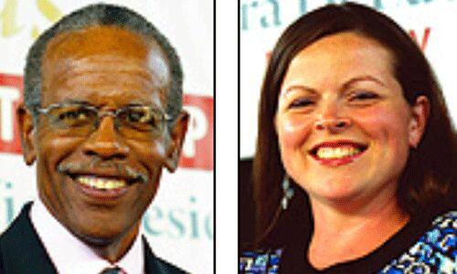 Los candidatos del Partido Socialista de los Trabajadores: James Harris...