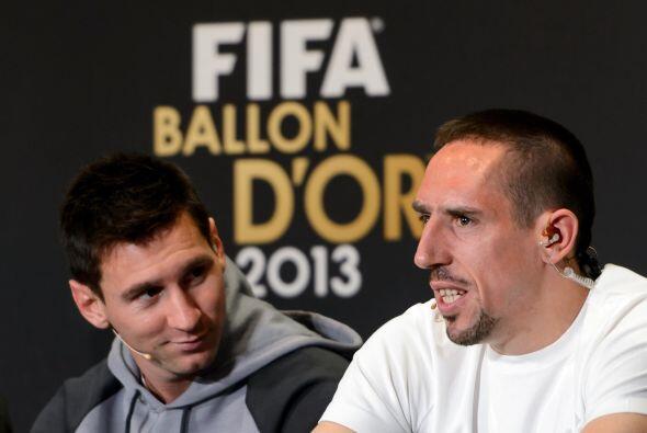 Messi sonreía ante algunas declaraciones del hombre del Bayern Munich.