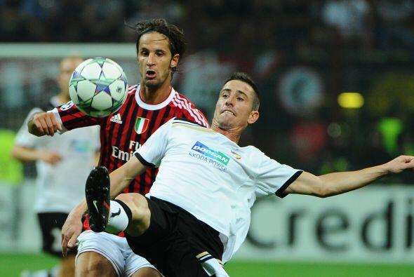 En el mismo sector del Barça, el Milan recibió al Viktoria.