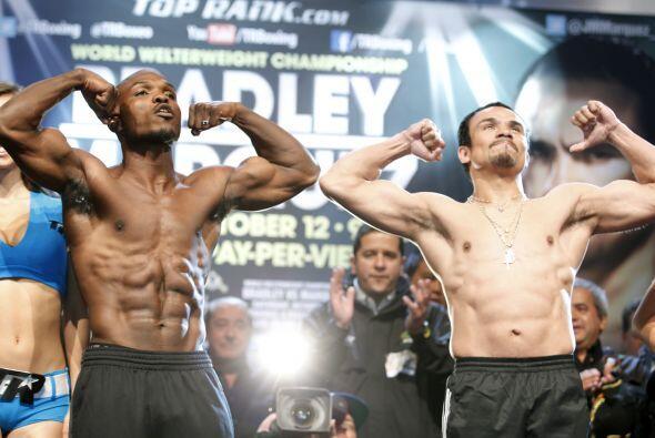 Toso listo para la gran pelea de Timothy Bradley contra Juan Manuel M&au...