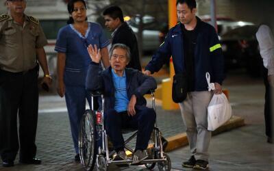 El expresidente Alberto Fujimori el pasado 4 de enero cuando abandon&oac...