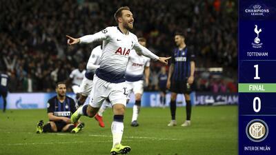 Tottenham venció por la mínima al Inter y quedó con opciones de avanzar a Octavos de Final