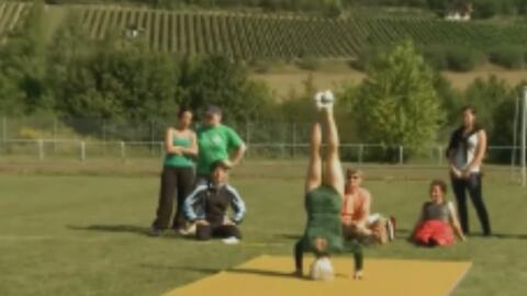 Johanna Quaas, la gimnasta de 91 años de edad que está en el Guinness Wo...