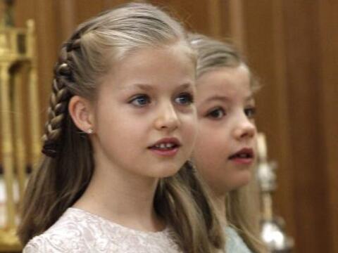 La hermosa hija de los reyes de España, Don Felipe y Doña...