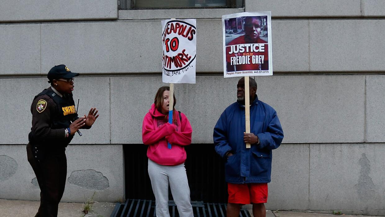 Protesta por la muerte de Freddie Gray