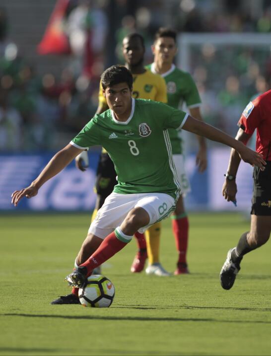Erick Gutiérrez (Pachuca) - 39 partidos jugados (seis con M&eacut...