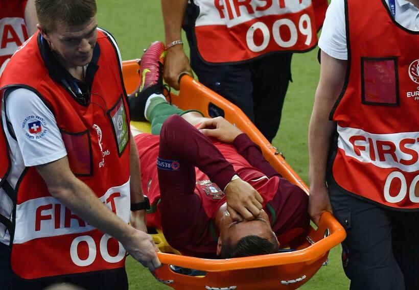 Cristiano Ronaldo abandonó la final de la Eurocopa a los 25 minut...