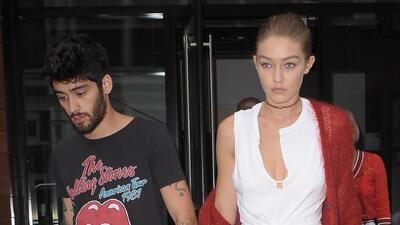 Zayn Malik y Gigi Hadid de manita sudada