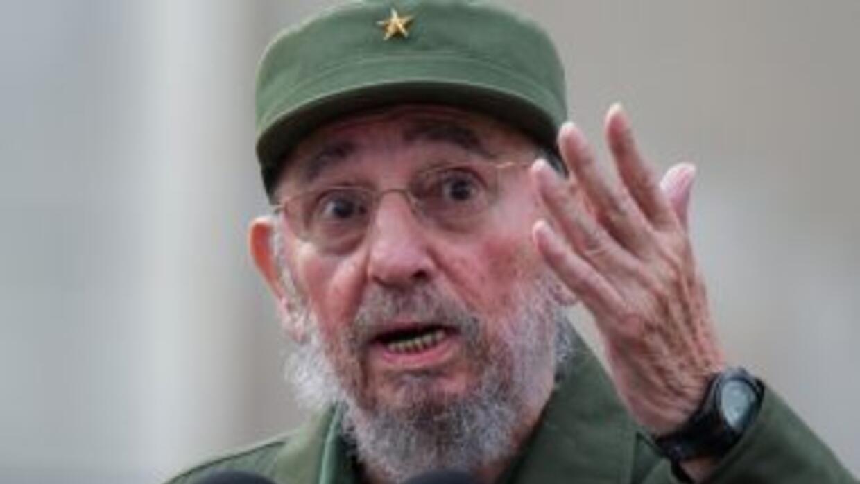El líder cubano Fidel Castro ironizó al preguntarse si habrá bombardeos...
