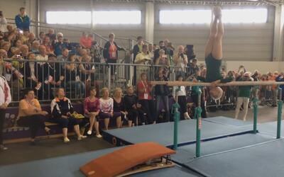 Mira la asombrosa rutina de esta abuela gimnasta de 91 años