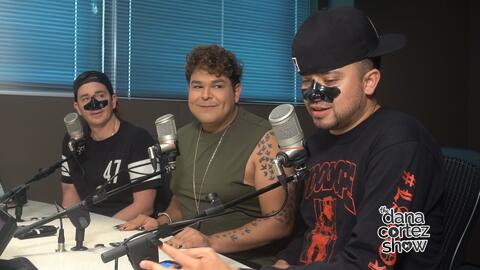 Dana Cortez Show - the guys get beautified with charcoal masks