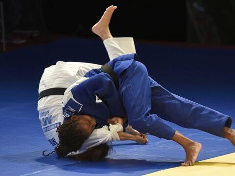 En la primera jornada de judo de los Juegos Centroamericanos y del Carib...