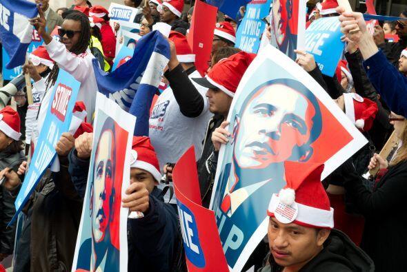 La huelga ocurre un día después que el presidente Barack O...