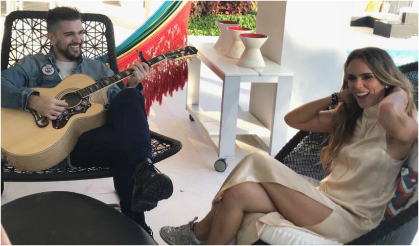 Juanes y esposa