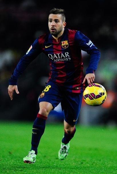 18 JORDI ALBA.- El lateral español del Barcelona está volv...