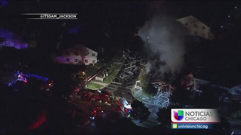 Explosión de gas en Romeoville causa graves daños