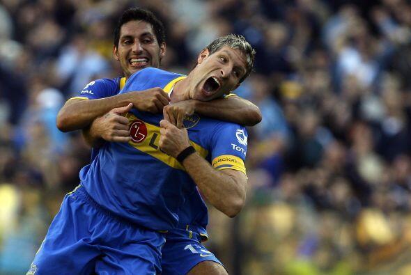 Con el tanto anotado Martín suma nueve goles con la camiseta de Boca Jun...