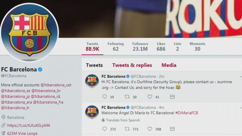 El FC Barcelona fue víctima de un hackeo en sus redes sociales y anunció...
