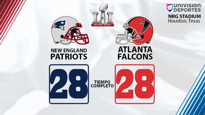 Tiempo extra Patriots - Falcons