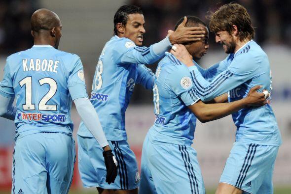 Con sus dos anotaciones, el Marsella logró tres valiosos puntos.
