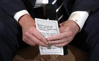 Los puntos que llevó Trump a su reunión con víctima...